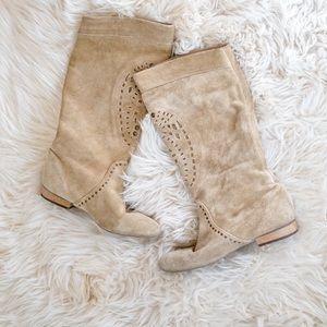 Tan Leather Zara boots size 39